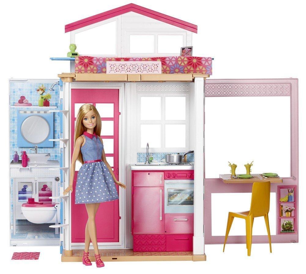 Набор Barbie Переносной раскладной домик чемоданчик с куклой Барби