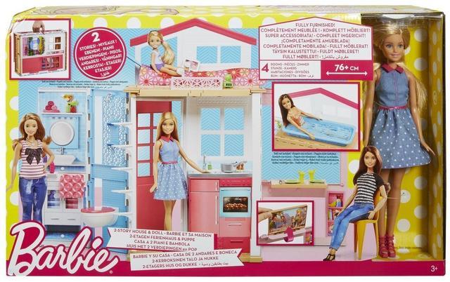 Barbie 2-Story House Портативный портативный домик чемоданчик с куклой Барби