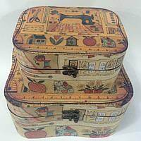 Набор деревянных шкатулок для рукоделия и для важных мелочей TZH-011