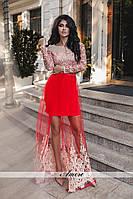 Роскошное платье со съемной сеткой в расцветках 440 (139)