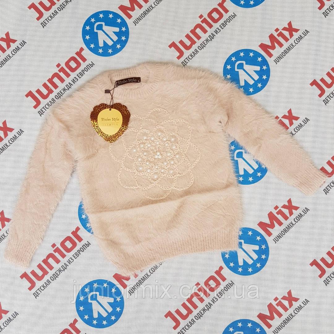 Детские теплые ангоровые кофты для девочек оптом Bimbo Style. ИТАЛИЯ