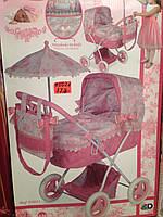 Детская коляска для кукол с зонтиком 85021