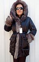 Куртка зима женская черная 50р с мехом