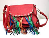 Оригинальная молодёжная женская сумка клатч VTTV красная