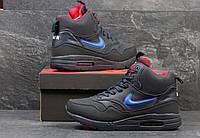 Зимние мужские кроссовки Nike Air Max 87темно синие