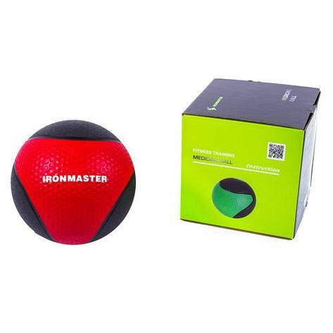 Медбол IronMaster 1 кг d=22 см IR97801I-1, фото 2