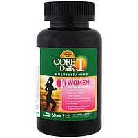 Мультивитамины Core Daily-1, для женщин, 60 таблеток