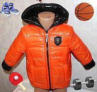 Дитяча Стильна двостороння куртка на хлопчика розмір 28,30,32,34 від 2 років до 7 років, фото 1