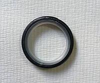 Кольцо тихое д. 16, черное серебро