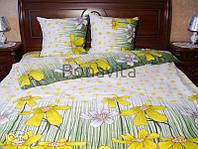 Полуторна постільна білизна Жовта квітка (Полуторное постельное Жёлтый цветок)