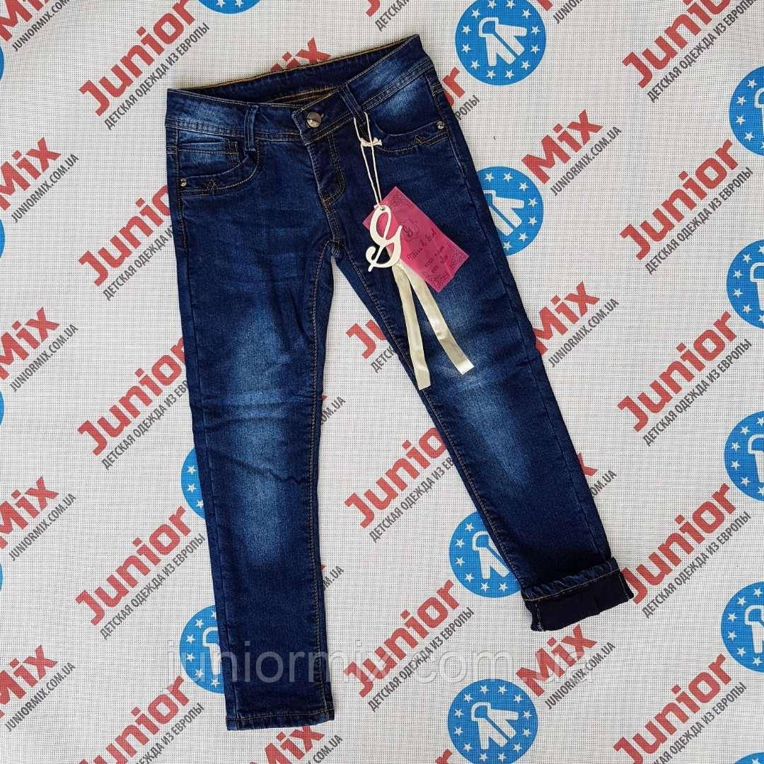 Детские теплые джинсы на флисе для девочек оптом Miss Girl.