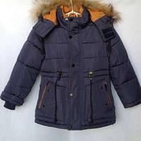 Зима 2017-2018 г. Зимняя куртка парка для мальчиков 1-5 лет