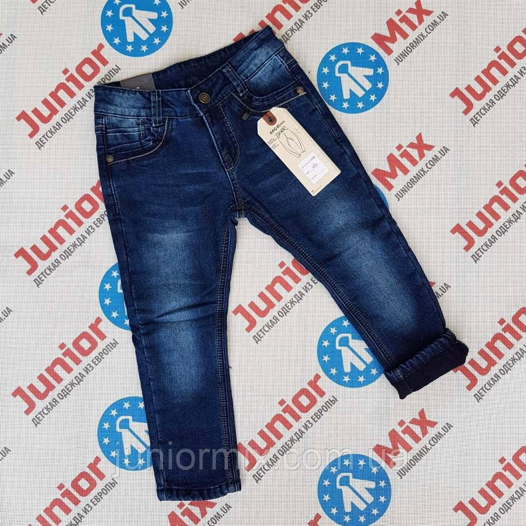 Детские теплые джинсы на флисе для мальчиков оптом  AnGel.