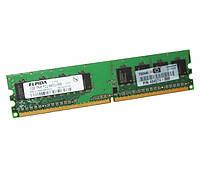 Оперативная память для компьютера 1Gb DDR2, 800 MHz (PC6400), Elpida, CL6 (EBE10UE8ACWA-8G-E)