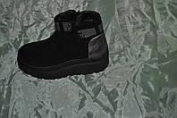 Женские  ботинки из натуральной замши 09