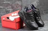 Nike Air Huarache зимние мужские кроссовки черные  (Реплика ААА+), фото 1