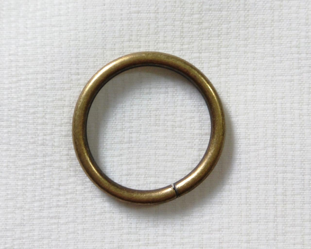 Кольцо обычное д. 19 мм, антик