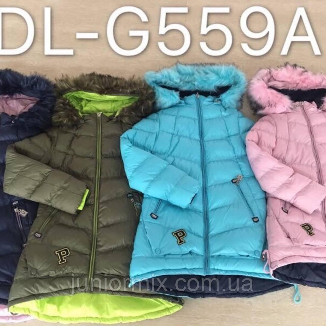 Зимние подростковые куртки для девочек  оптом ADL.