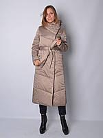 Куртка из атласа макси