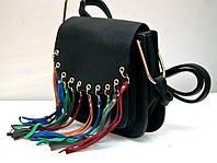 Оригинальная молодёжная женская сумка клатч VTTV чёрная