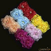 Банты для волос на резинке; диаметр: 10 см, 12 штук в упаковке