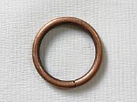 Кольцо обычное д. 19 мм, медь античная