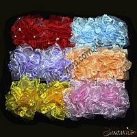 Банты для волос на резинке; диаметр: 14 см, 12 штук в упаковке