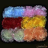 Банты для волос на резинке; диаметр: 12 см, 12 штук в упаковке