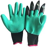 Перчатки для садовых работ  с когтями Garden Genie Gloves