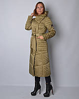 Женская удлиненная куртка из атласа
