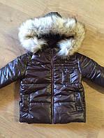 Красивая детская курточка на синтепоне с капюшоном и карманами