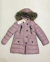 Зимнее пальто для девочек 4-12 лет