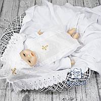 """Крестильный набор """"Ангел"""" (крыжма и одежда) прошва белый"""
