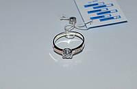 Кольцо серебряное с золотыми накладками