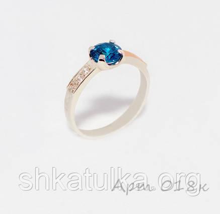 Кольцо серебряное с золотыми накладками №18н