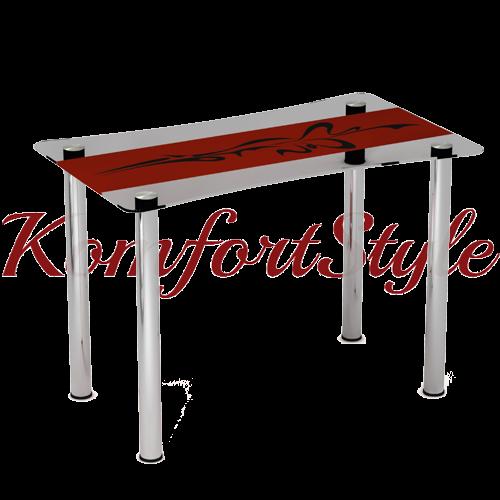 Стол стеклянный кухонный Самурай