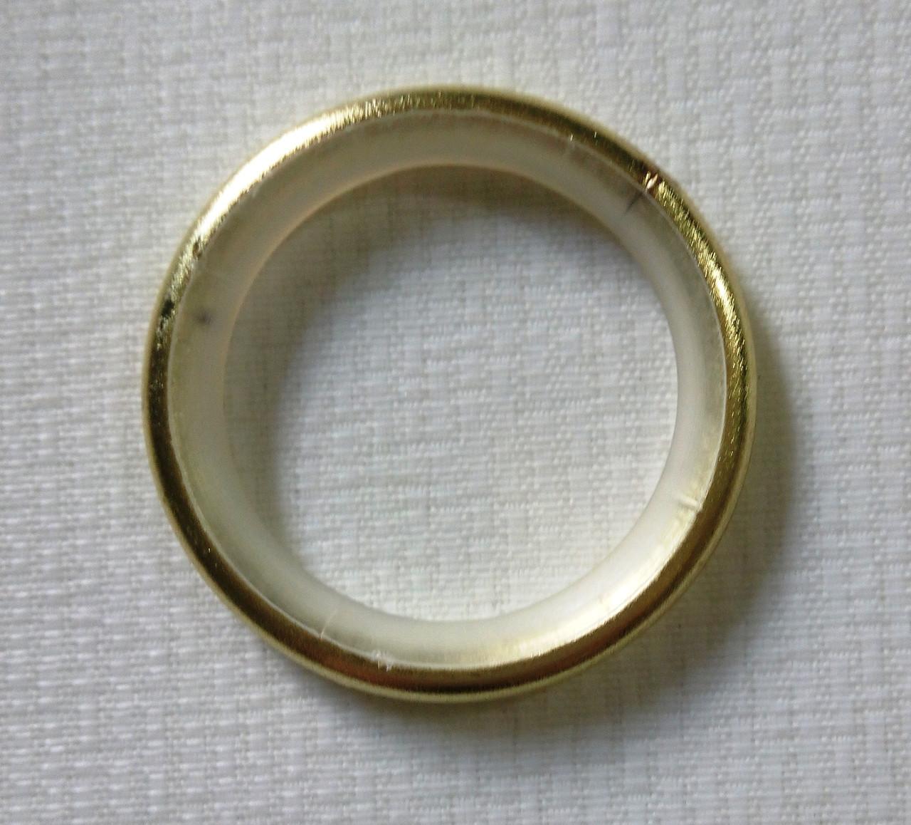 Кольцо тихое д. 19 мм, золото