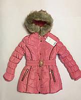 Зимнее пальто для девочек на 4-12 лет