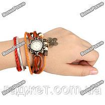 Женские наручные часы браслет оранжевого цвета, фото 3