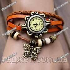 Женские наручные часы браслет оранжевого цвета