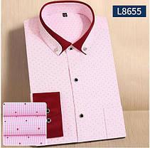 Мужская рубашка с длинным рукавом полоска точка, фото 2
