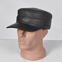 Чоловіча шкіряна  кепка-німка  утеплена , з  вушками