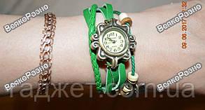 Женские наручные часы браслет зеленого цвета, фото 2