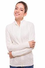 """Теплая шерстяная кофта """"Эсми"""", для девочки, на молнии, цвет молочный, на рост 140 см, фото 2"""