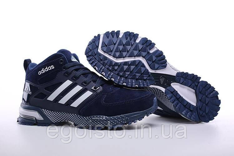 d13ae636 Кроссовки мужские Adidas Neo Winter Blue С МЕХОМ (адидас) синие -  Интернет-магазин