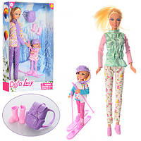 """Кукла Defa """"Активный отдых"""" 29 см, дочка 3 см, лыжи, рюкзак, 2 вида 8356"""