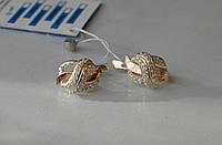 Серьги из серебра со вставками золота, фото 1