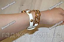 Женские наручные часы с декоративной цепочкой белого цвета. Женские часы, фото 3