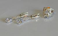 Серебряный набор из серебра с золотом №99н, фото 1