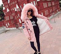 """Куртка-парка женская зимняя """"Port Clerence"""" светло-розовая"""